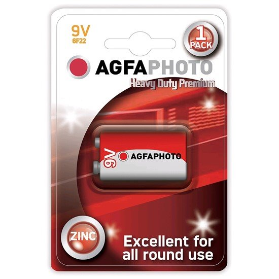 AgfaPhoto zinková batéria 9V, blister 1ks
