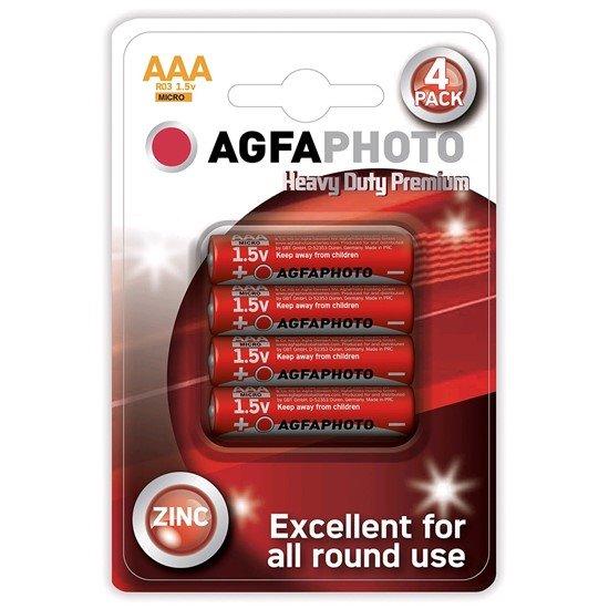 AgfaPhoto zinková batéria 1.5V, R03/AAA, blister 4ks