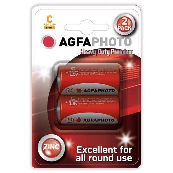 AgfaPhoto zinková batéria 1.5V, R14/C, blister 2ks