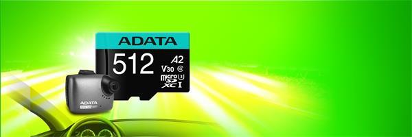 512 GB . Premier Pro micro SDXC/SDHC UHS-I U3 95MB/s karta ADATA class 10 (V30S) + adaptér