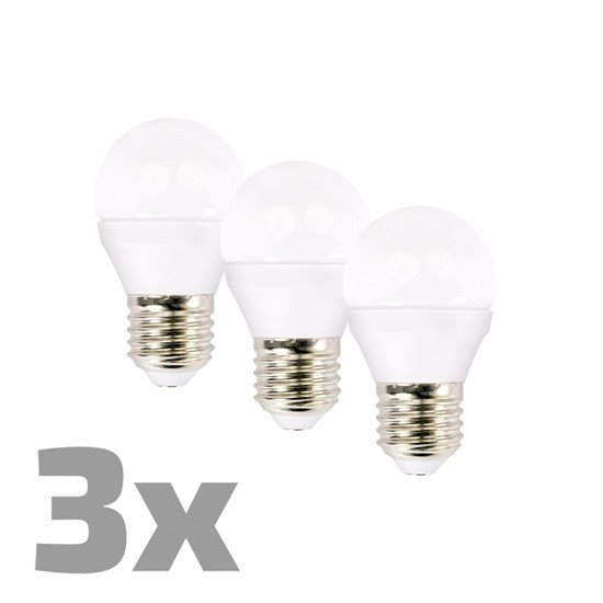 Solight ECOLUX LED žiarovka3-pack, miniglobe, 6W, E27, 3000K, 450lm, 3ks