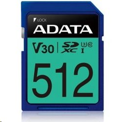 512 GB . SDXC Premier Pro UHS-I U3 karta A-DATA class 3/10 Ultra High Speed