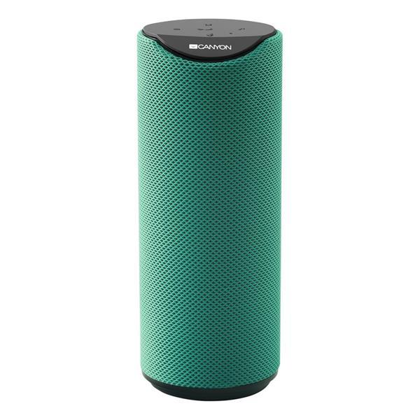 Canyon CNS-CBTSP5G Bluetooth V5.0 reproduktor, 3.5mm mini jack, micro USB, microSD, 1200mAh polymer, zelený