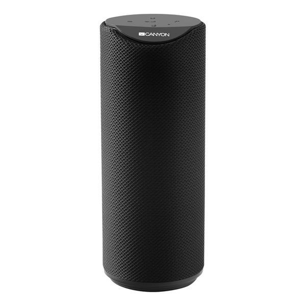 Canyon CNS-CBTSP5B Bluetooth V5.0 reproduktor, 3.5mm mini jack, micro USB, microSD, 1200mAh polymer, čierny