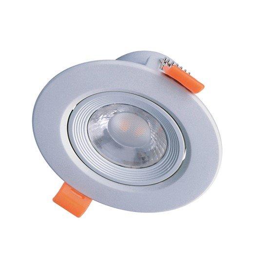 Solight LED podhľadové svietidlo bodové, 5W, 400lm, 3000K, okrúhle, strieborné