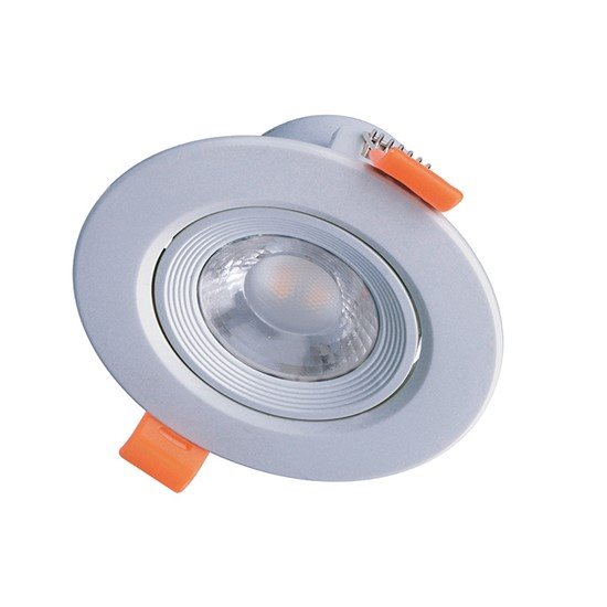Solight LED podhľadové svietidlo bodové, 5W, 400lm, 4000K, okrúhle, strieborné