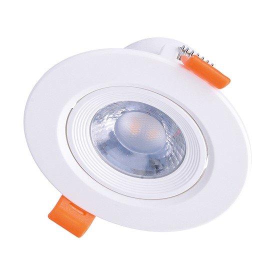 Solight LED podhľadové svietidlo bodové, 9W, 720lm, 3000K, okrúhle, biele