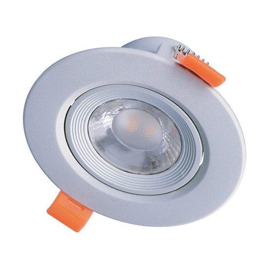 Solight LED podhľadové svietidlo bodové, 9W, 720lm, 3000K, okrúhle, strieborné