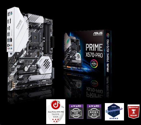 ASUS PRIME X570-PRO soc.AM4 X570 DDR4 ATX M.2 RAID HDMI DP