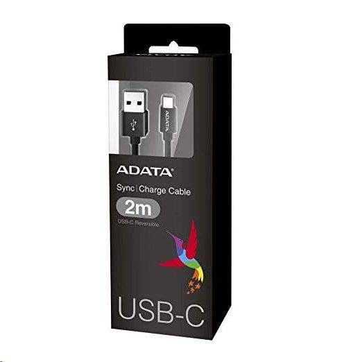 A-DATA kábel USB-C na USB-A 2.0 (200cm), čierny