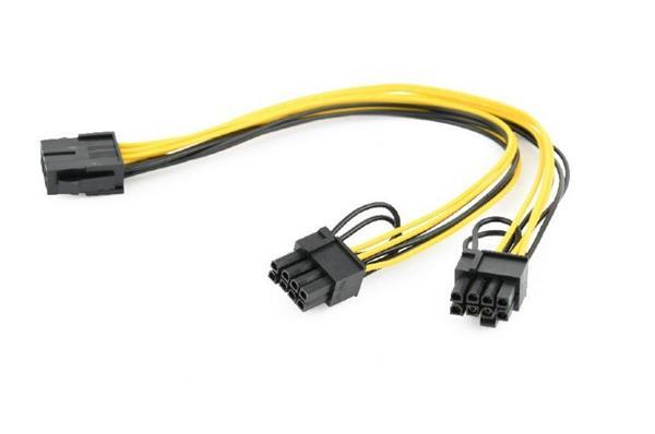 Gembird rozdvojka napájania PCI-Express 8-pin na 2x PCIe 6+2 pin, kábel, 0.3 m