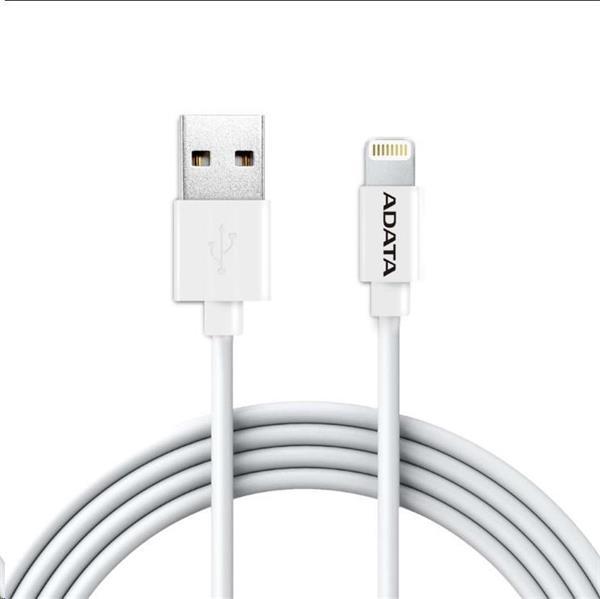 A-DATA Apple Lightning kábel, 200cm, plástový biely