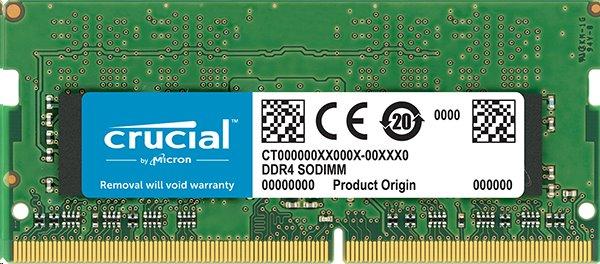 8GB DDR4 3200 MT/s (PC4-25600) CL22 DR x16 Crucial Unbuffered SODIMM 260pin