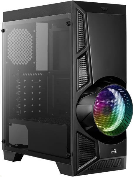 Aerocool MLG AeroEngine RGB skrinka ATX, čierna, bez zdroja