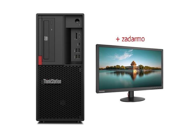 Lenovo TS P330 2 TWR i7-9700K 4.9GHz UMA 16GB 512GB SSD DVD W10Pro cierny 3y OS