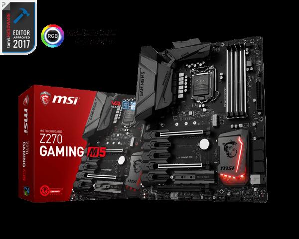 MSI Z270 GAMING M5/Socket 1151/DDR4/USB3.1/HDMI/DP/E2500/RAID/ATX