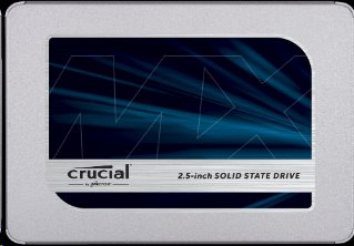 "Crucial MX500 1TB SSD, 2.5"" 7mm SATA 6Gb/s, Read/Write: 560 MBs/510MBs"