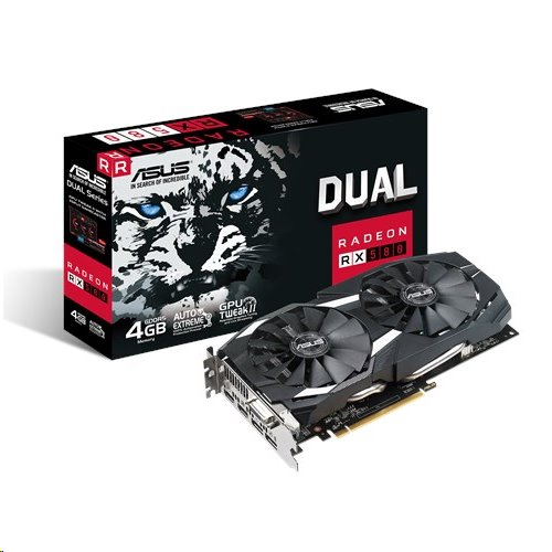 ASUS DUAL-RX580-4G 4GB/256-bit, GDDR5, DVI, 2xHDMI, 2xDP