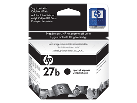 HP No. 27 black inkjet print cartridge (10ml)