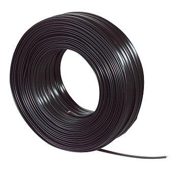 OEM kabel telefónny 4 žilový, plochý, 28AWG, cierny, 100m cievka