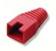 kryt na mod.konektor RJ45 - červená, (100ks)