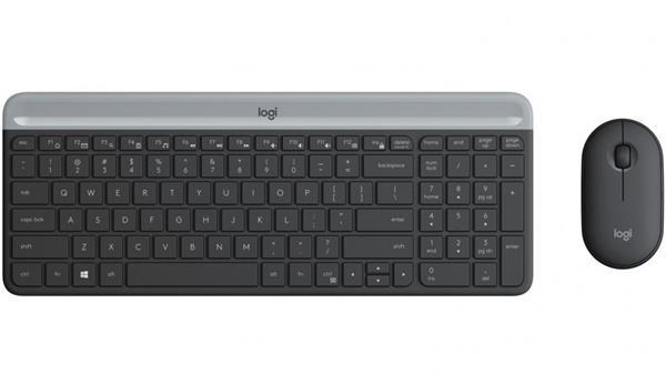 Logitech® Slim Wireless Combo MK470 - CZ/SK, Graphite