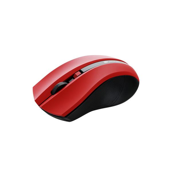 Canyon CNE-CMSW05R, Wireless optická myš USB, 800/1200/1600 dpi, 4 tlač, červená