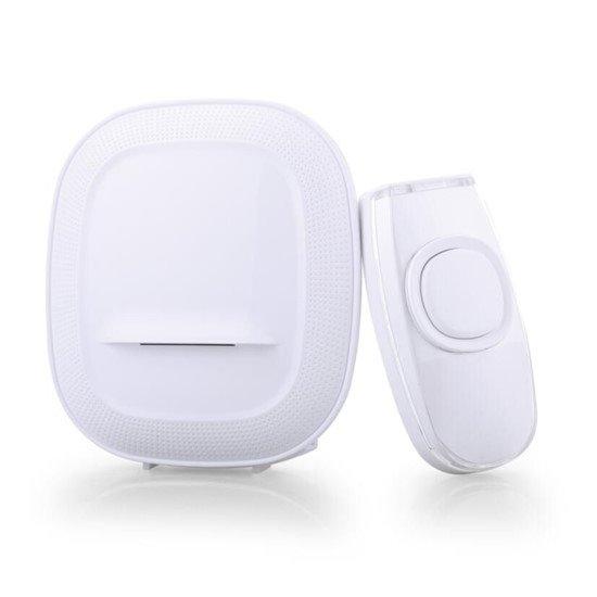 Solight bezdrôtový zvonček, batériový, 200m, biely, learning code