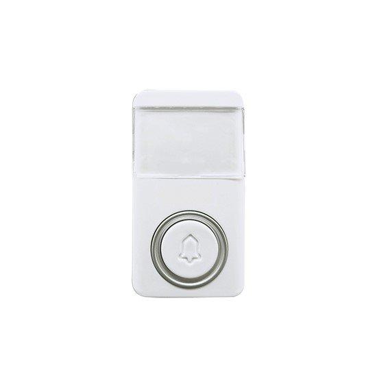 Solight bezdrôtové bezbatériové tlačidlo pre 1L64, 120m, biele, learning code