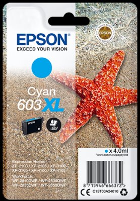 Epson atrament XP-2100/3100 cyan XL 4ml - 350 str.