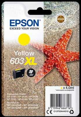 Epson atrament XP-2100/3100 yellow XL 4ml - 350 str.