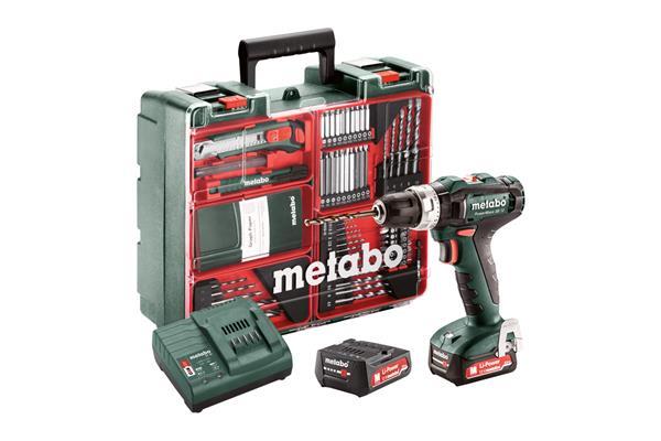 Metabo PowerMaxx SB 12 Set Akumulátorová príklepová vŕtačka 12V 2x2Ah Li-Ion; Nabíjačka, Kufor z umelej hmoty, mobilná d