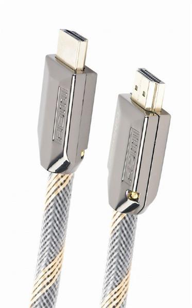 Gembird kábel HDMI High speed (M - M), prémiový, certifikovaný, pozlátené konektory, 1 m