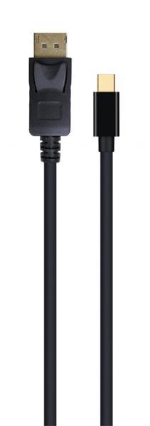 Gembird kábel Mini DisplayPort (M) na DisplayPort (M), 4K, 1.8 m, čierny