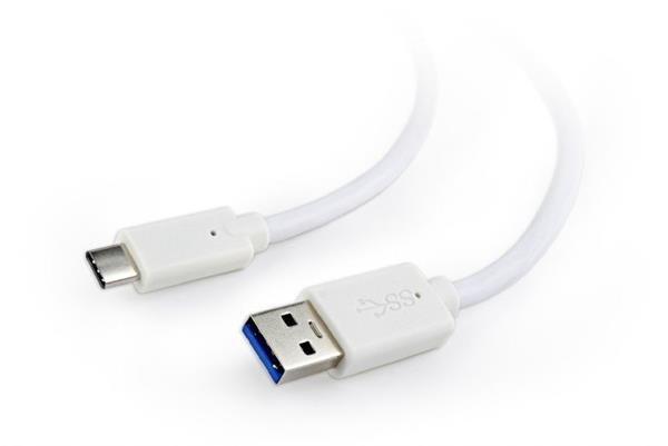 Gembird kábel USB 3.0 (AM) na USB 3.1 (CM), 0.1 m, biely