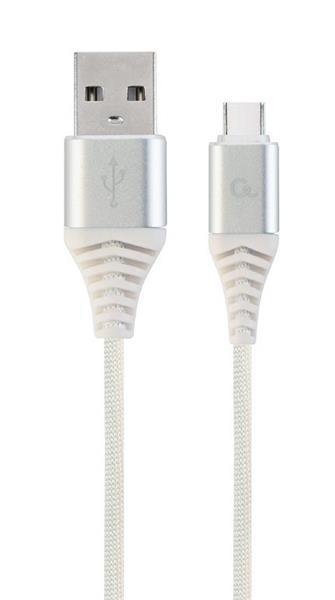 Gembird kábel nabíjací USB-C (M) na USB 2.0 (M), prémiový, opletený, 2 m, biely