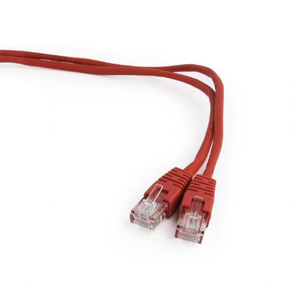 Gembird patch kábel CAT5e, UTP, 0.25 m, červený