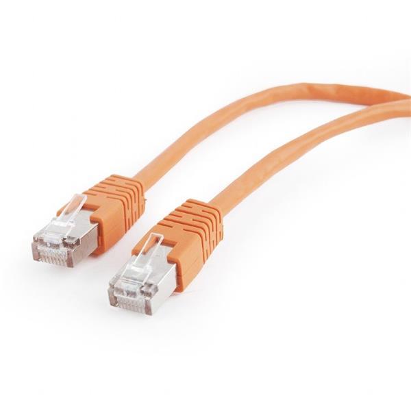 Gembird patch kábel CAT5e, FTP, 0.5 m, oranžový