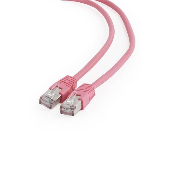 Gembird patch kábel Cat6 FTP, 0.25 m, rúžový