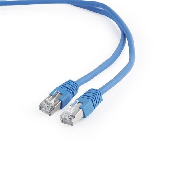 Gembird patch kábel Cat6 FTP, 3 m, modrý