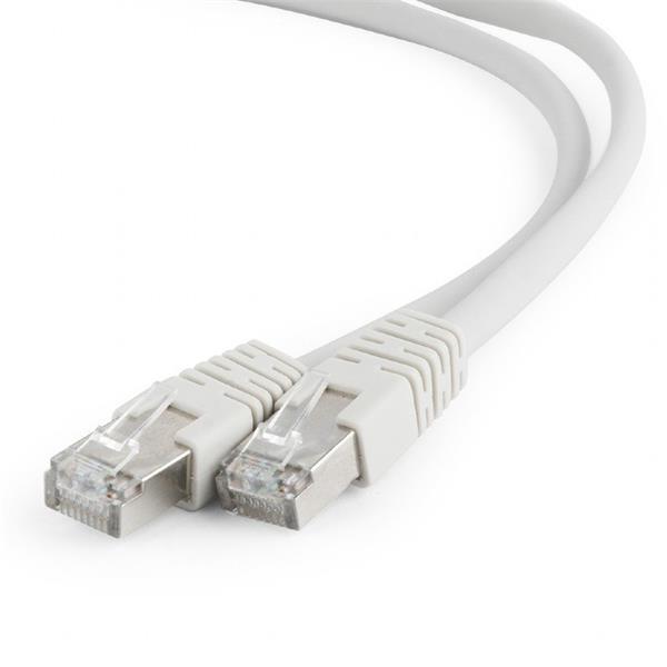 Gembird patch kábel S/FTP Cat. 6A LSZH, 1 m, šedý