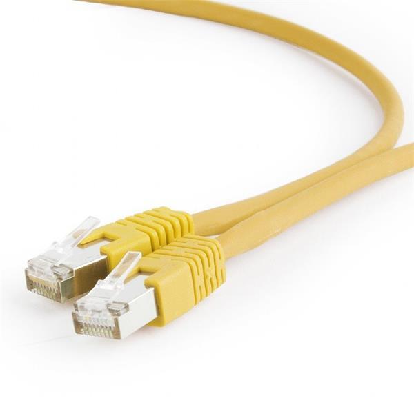 Gembird patch kábel S/FTP Cat. 6A LSZH, 3 m, žltý