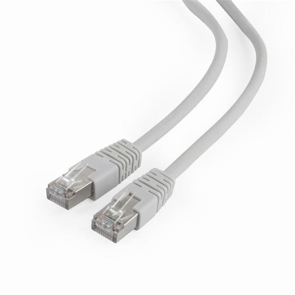 Gembird patch kábel prémiový FTP Cat. 6A LSZH, 0.25 m, vodič meď, šedý