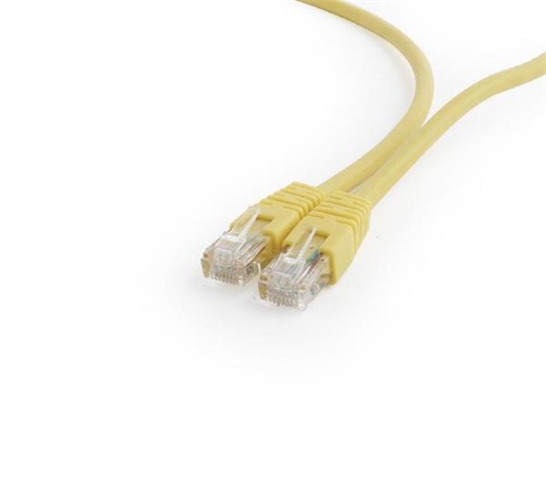 Gembird patch kábel Cat6 UTP, 0.25 m, žltý