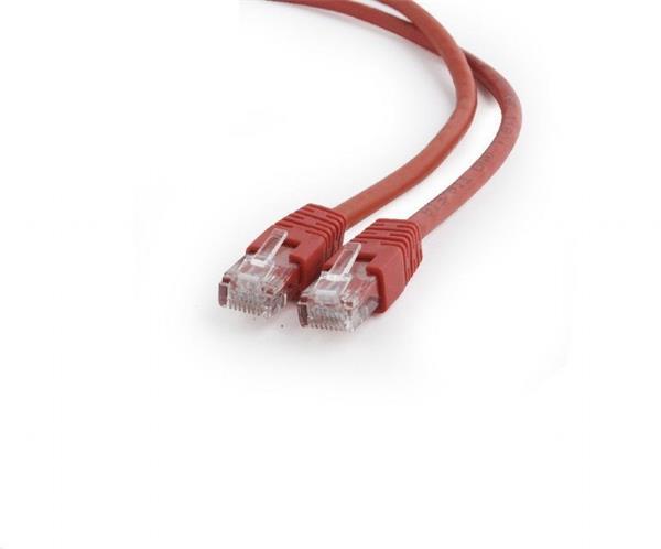 Gembird patch kábel Cat6 UTP, 0.5 m, červený
