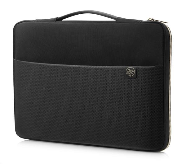 HP 14 Blk/Gold Carry Sleeve