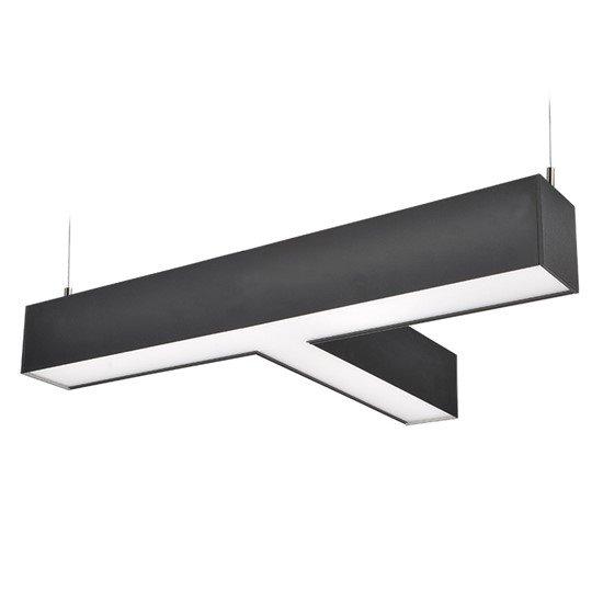 Solight LED lineárne závesné osvetlenie, T konektor, 27W, 2300lm, Lifud, 3 roky záruka, černá farba