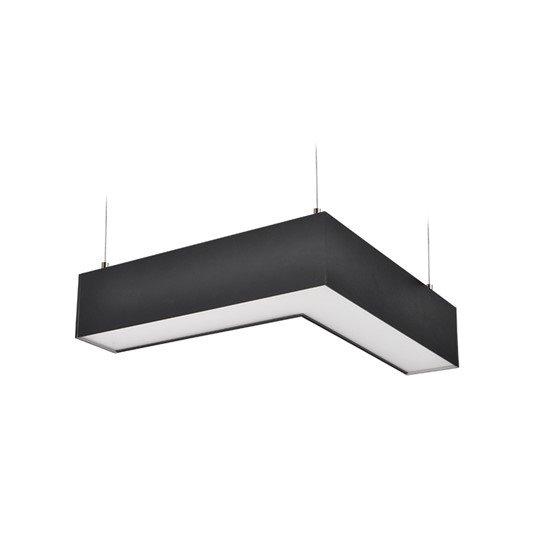Solight LED lineárne závesné osvetlenie, L konektor, 18W, 1500lm, Lifud, 3 roky záruka, černá farba