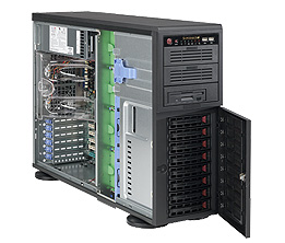 Supermicro® CSE-743TQ-865B Tower/4U chassis 8x hs SuperQuiet