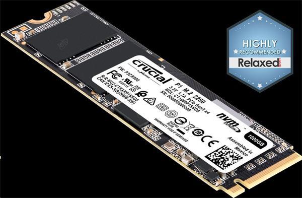 CRUCIAL P1 1TGB SSD, M.2 2280, NVMe, Read/Write: 2000 / 1700 MB/s, Random Read/Write IOPS 170K/240